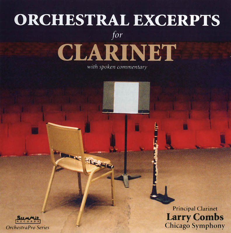 Orchestral Excerpts for Clarinet with spoken commentary