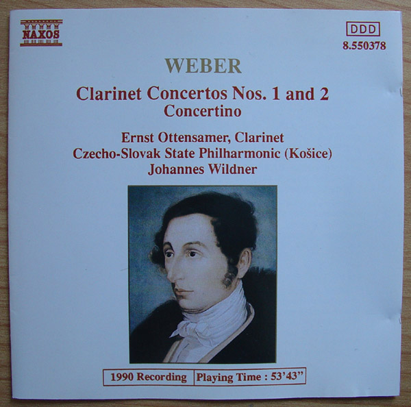 Weber: Clarinet Concertos Nos. 1 and 2 - Concertino